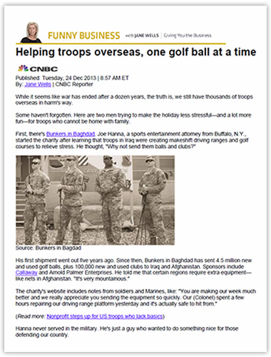 Helping troops overseas, one golf ball at a time
